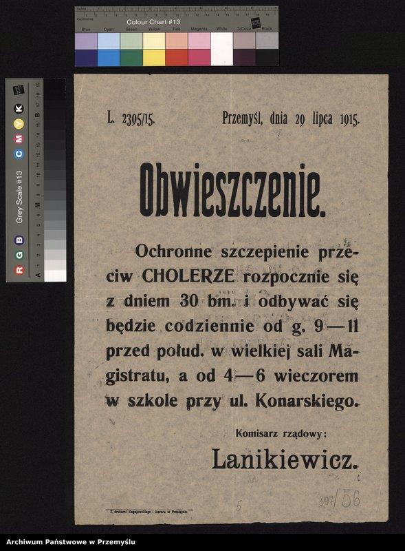 """Obraz 7 z kolekcji """"Epidemie w Przemyślu"""""""
