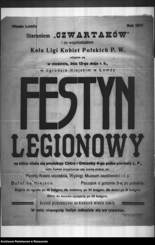 """Obraz 15 z kolekcji """"Legiony Polskie w zbiorach AP Rzeszów"""""""