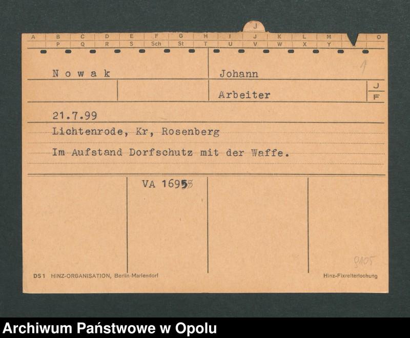 "Obraz 3 z jednostki ""[Nowak Johann, ur. 21.7.1899, zam. Lichtenrode]"""