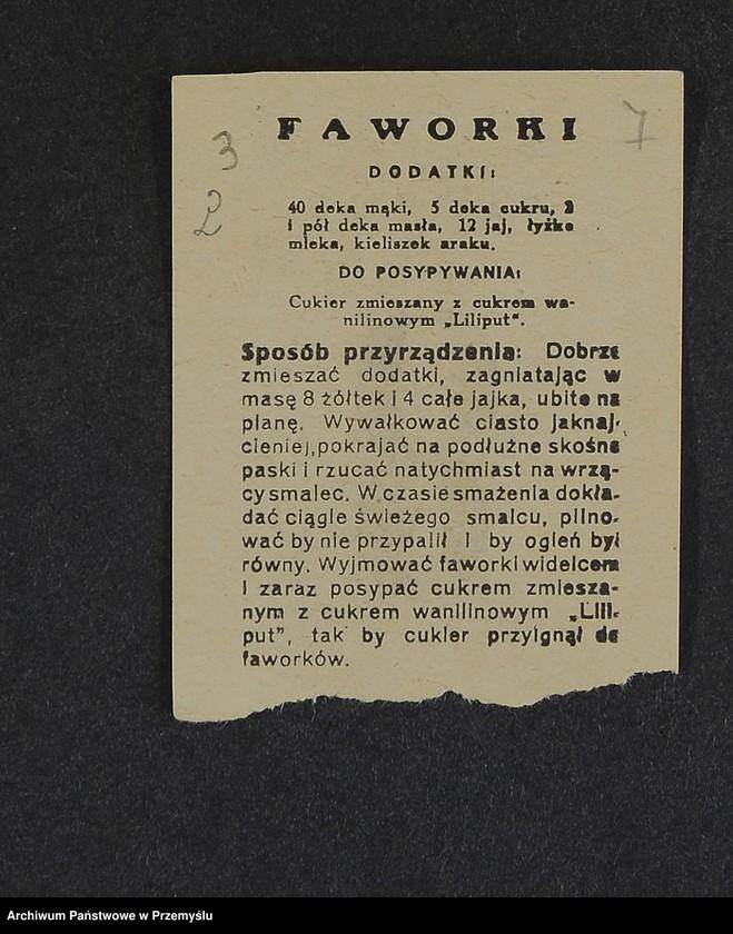 """Obraz 16 z kolekcji """"Przepisy kulinarne z kalendarza z 1935 roku"""""""