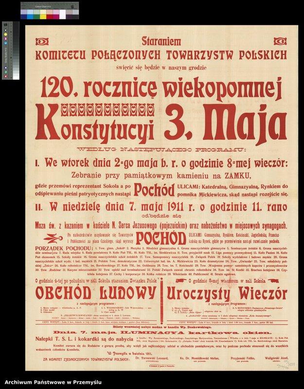 """Obraz 2 z kolekcji """"Uchwalenie Konstytucji 3 Maja - obchody rocznicowe w Przemyślu"""""""