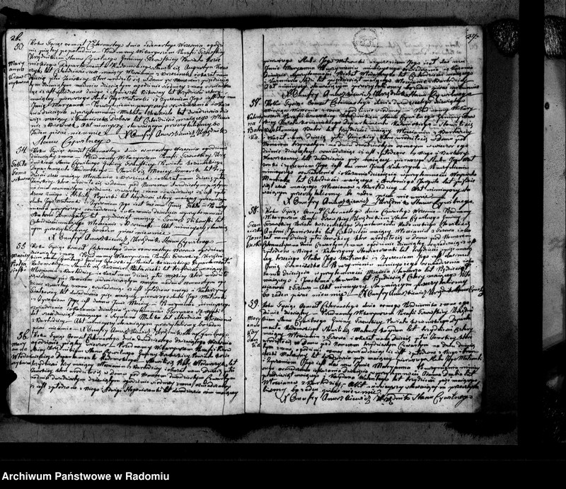 """Obraz 16 z jednostki """"Tczów 1814 [Duplikat akt urodzonych, zaślubionych i zmarłych]"""""""