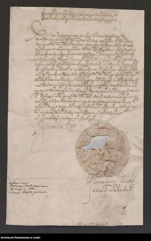 """Obraz 3 z kolekcji """"Rękopisy i druki z okresu staropolskiego"""""""