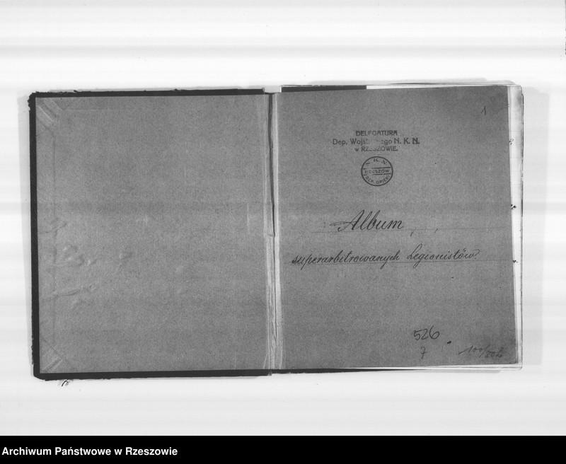 """Obraz 4 z jednostki """"Delegatura Departamentu Wojskowego N.K.W. Rzeszów (album superarbitrowanych Legionistów)."""""""
