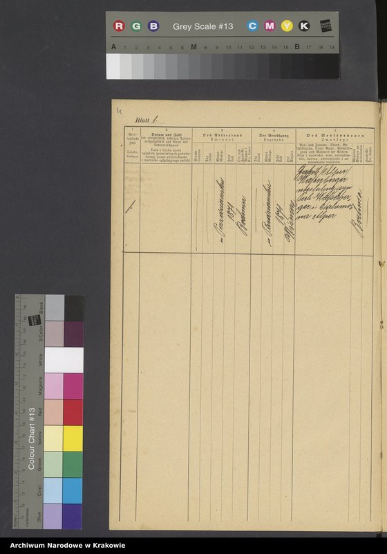 """Obraz z jednostki """"Księga metr.[ykalna] śmierci okręgu metr.[ykalnego] izr.[aelickiego] bocheńskiego jako zeszyt uzupełniający rocznika 1871 [wraz z indeksem]"""""""