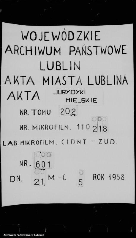 "Obraz 1 z jednostki ""Acta seu liber inscriptionum villae Conopnicza --"""