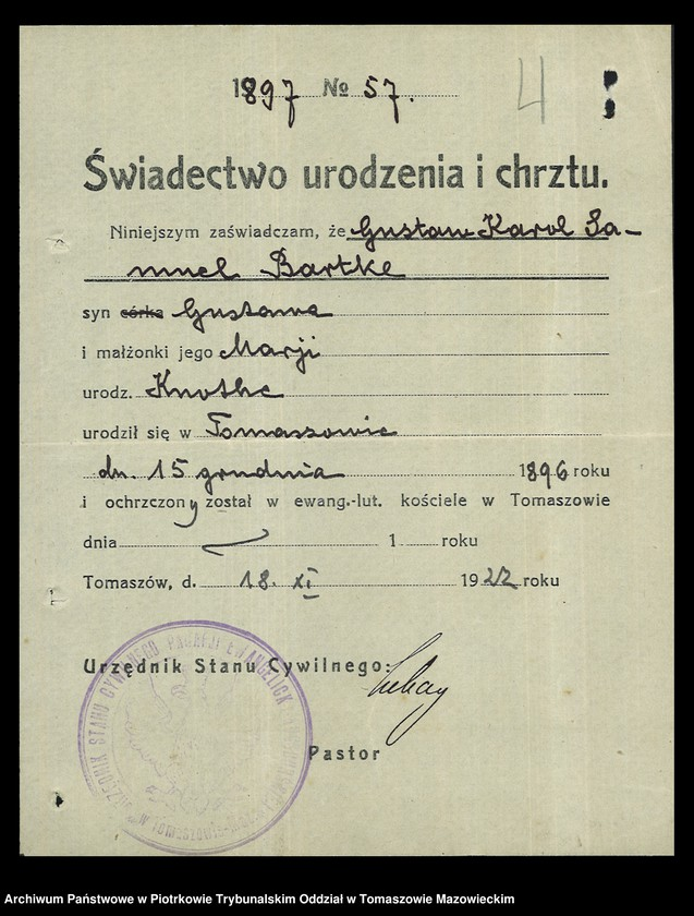 """Obraz 5 z kolekcji """"Dowody osobiste wystawione przez Starostwo Powiatowe Brzezińskie"""""""