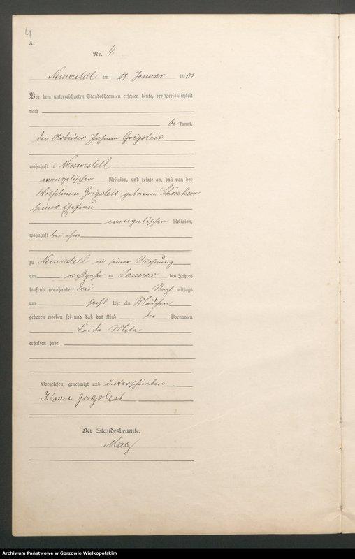 "Obraz 6 z jednostki ""Geburts Register"""