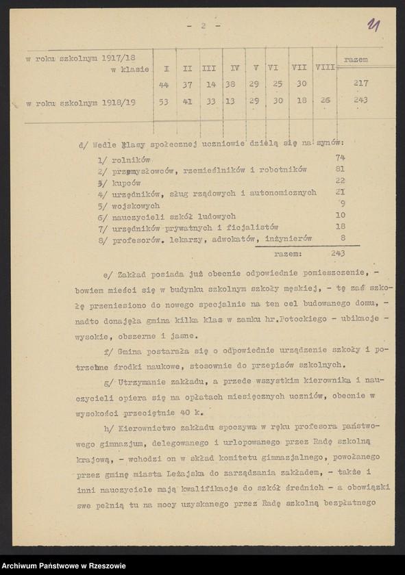 """Obraz 5 z kolekcji """"Niepodległa Polska 1918-1920 w zbiorach AP Rzeszów"""""""