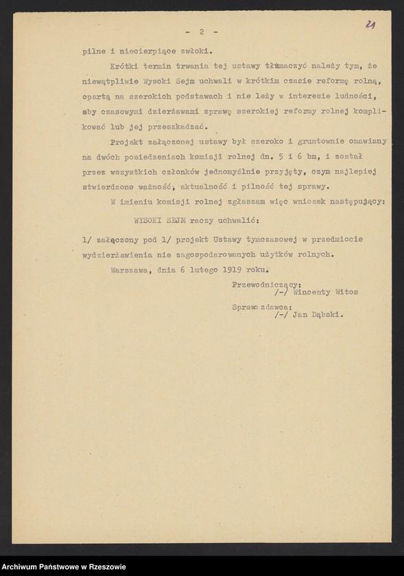 """Obraz 8 z kolekcji """"Niepodległa Polska 1918-1920 w zbiorach AP Rzeszów"""""""