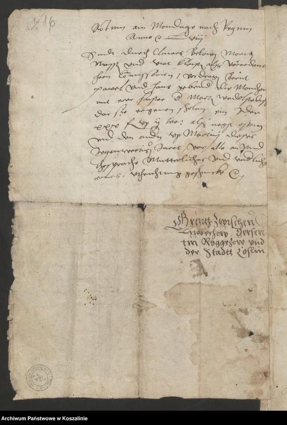 """Obraz 16 z kolekcji """"Granice miasta Koszalina. Tom I: 1558-1689 [odpis dokumentu z 1337 roku]"""""""