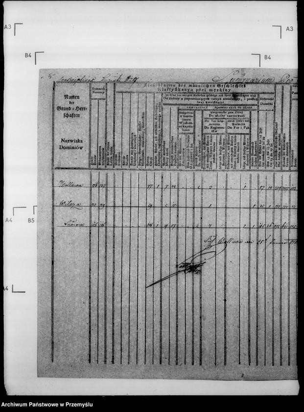 """Obraz 9 z jednostki """"Sumariusze miejscowe [spisy ludności i spisy koni dla celów wojskowych]"""""""