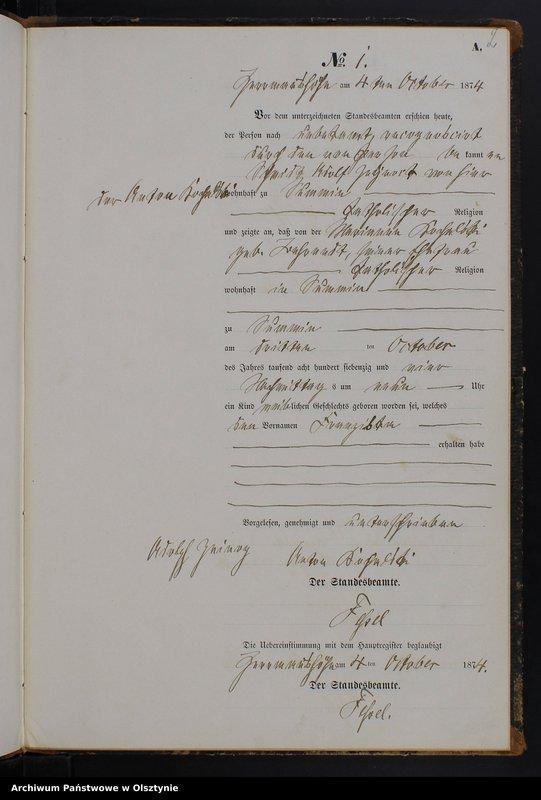 """Obraz z jednostki """"Geburts-Neben-Register Nr 1 - 27"""""""