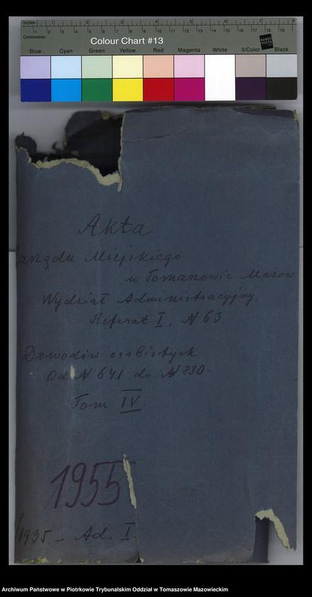"""Obraz 2 z jednostki """"Dowodów osobistych od nr 641 do 830. Tom IV"""""""