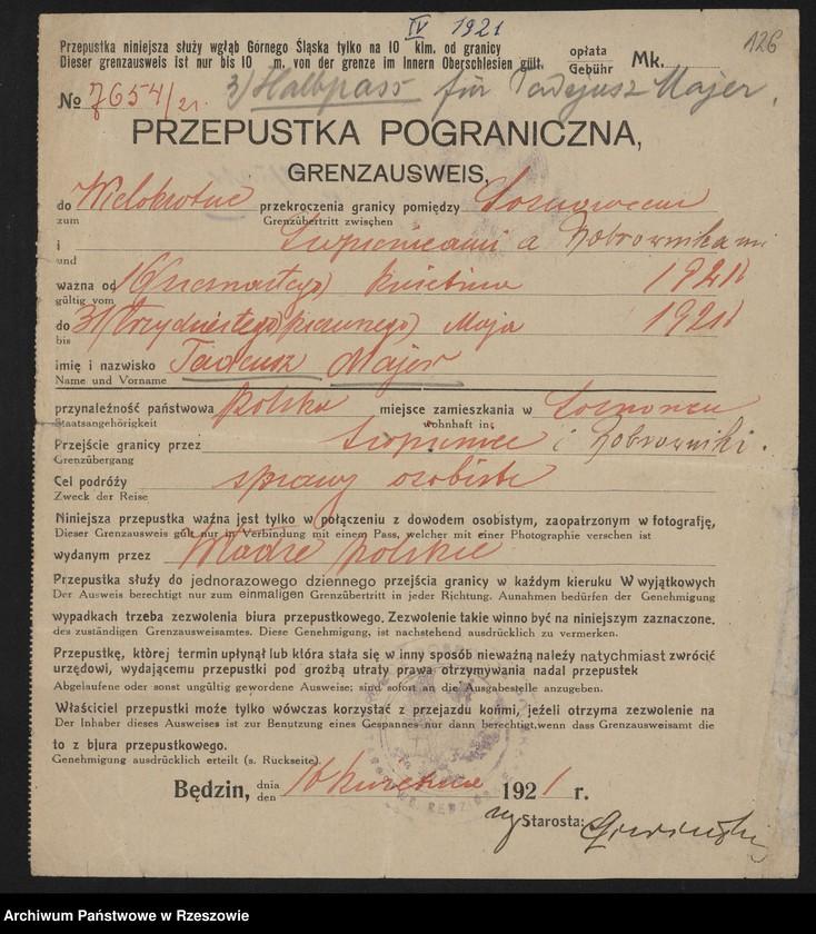 """Obraz 13 z kolekcji """"Powstania Śląskie w zbiorach AP Rzeszów"""""""