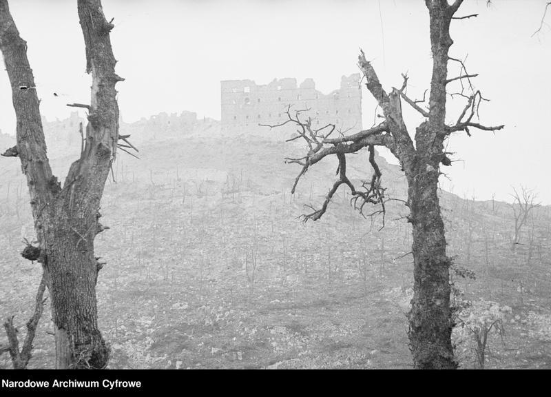 """Obraz 4 z jednostki """"Pobojowisko po bitwie o Monte Cassino - zniszczenia, jeńcy i chowanie poległych"""""""
