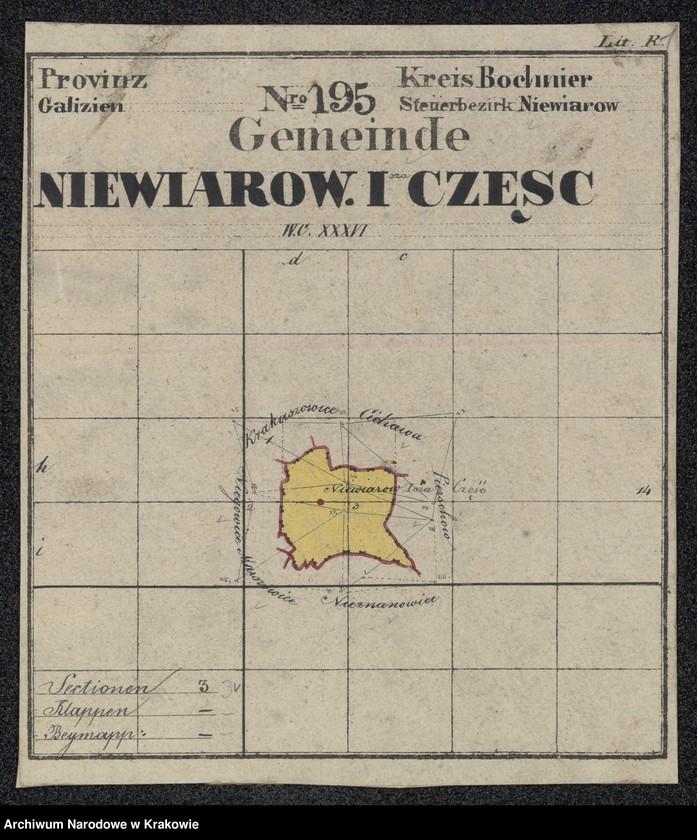"""Obraz 3 z jednostki """"195 Dorf Niewiarow [Niewiarów] I-sza część in Galizien Bochnier Kreis"""""""