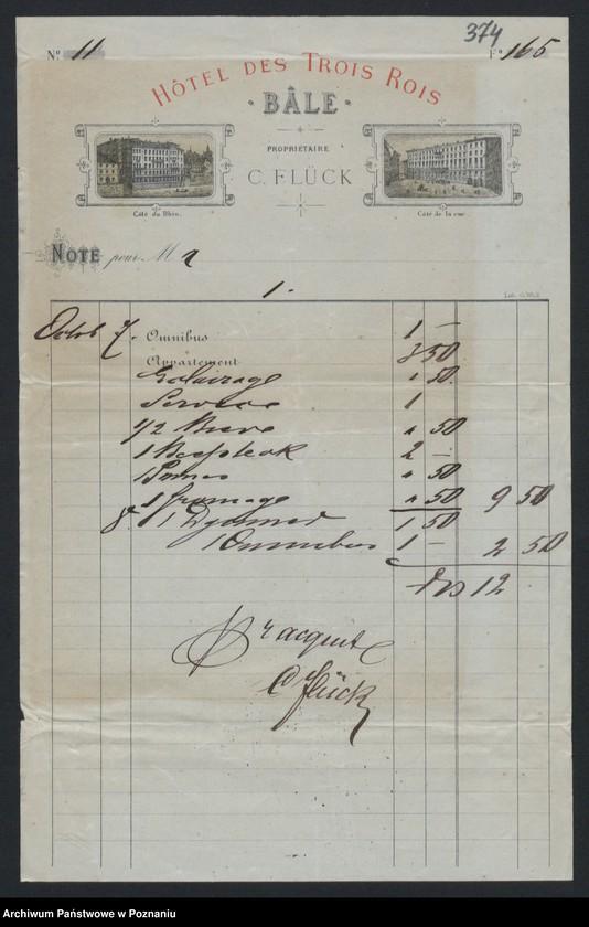 """Obraz 2 z kolekcji """"Egzotyczny papier listowny i rachunki z elitarnych hoteli - podróże rodziny Radolińskich"""""""