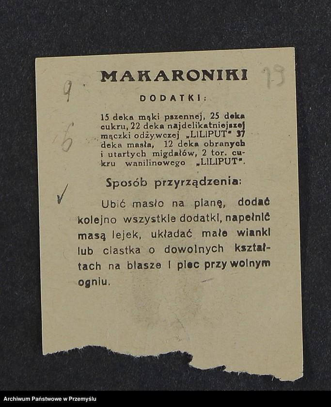"""Obraz 6 z kolekcji """"Przepisy kulinarne z kalendarza z 1935 roku"""""""