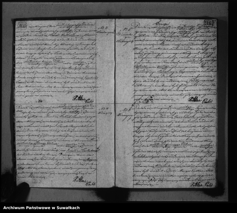 """Obraz z jednostki """"Duplikat do zapisywania aktów urodzeń, małżeństw i zeyść w parafii ewangelickej Wiżajny za rok 1857"""""""