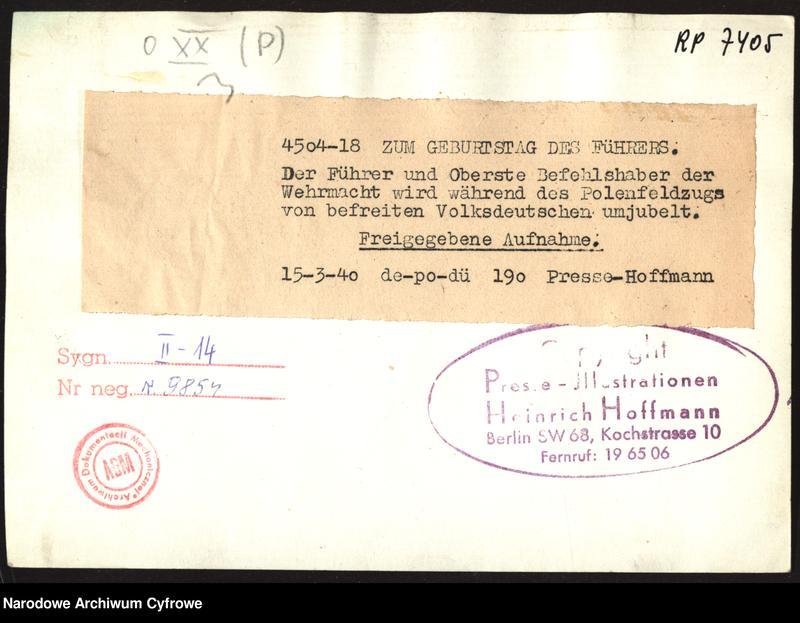"Obraz 2 z jednostki ""Adolf Hitler wśród volksdeutschów"""