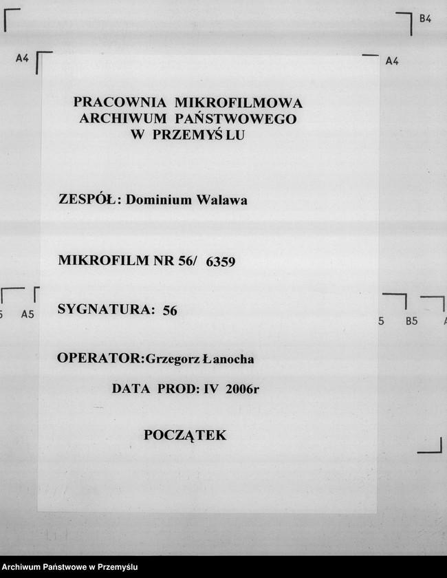 """Obraz 1 z jednostki """"Sumariusze miejscowe [spisy ludności i spisy koni dla celów wojskowych]"""""""