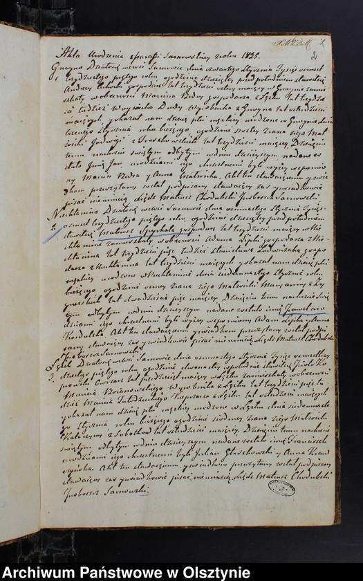 """image.from.unit """"Duplikat Urodzonych Zaslubionych Zmarłych w parafii Sarnowskiey z roku 1835"""""""