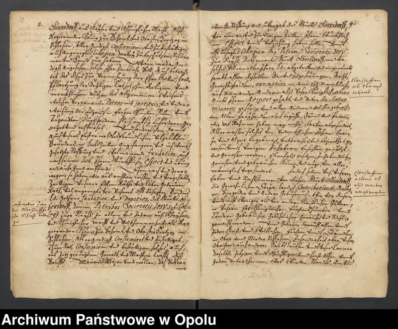 """Obraz 2 z kolekcji """"Księga dokumentów fundacyjnych Kolegium Jezuitów w Nysie"""""""