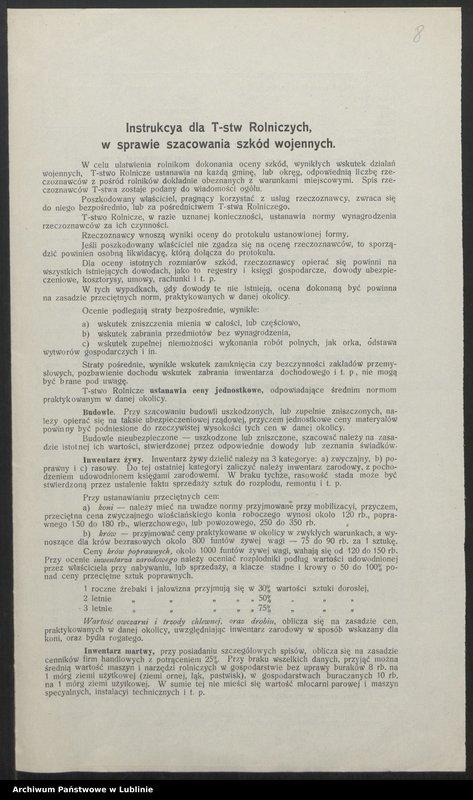 """Obraz 1 z kolekcji """"Straty wojenne na Lubleszczyźnie (1914-1915)"""""""