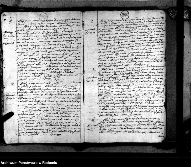 """Obraz z jednostki """"Tczów 1814 [Duplikat akt urodzonych, zaślubionych i zmarłych]"""""""