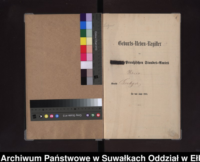 """Obraz z jednostki """"Geburts-Neben-Register des Preussischen Standes-Amtes Rhein Kreis Loetzen"""""""