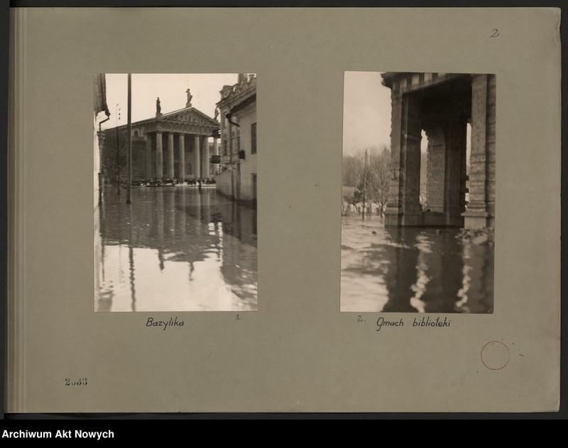 """Obraz 5 z jednostki """"Powódź na Wileńszczyźnie w 1931 r. Album z fotografiami."""""""
