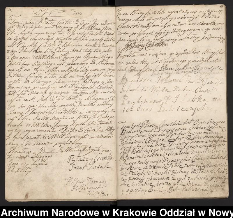 """Obraz 7 z kolekcji """"Fragment księgi wójtowsko-ławniczej miasta Limanowej z lat 1750-1818"""""""