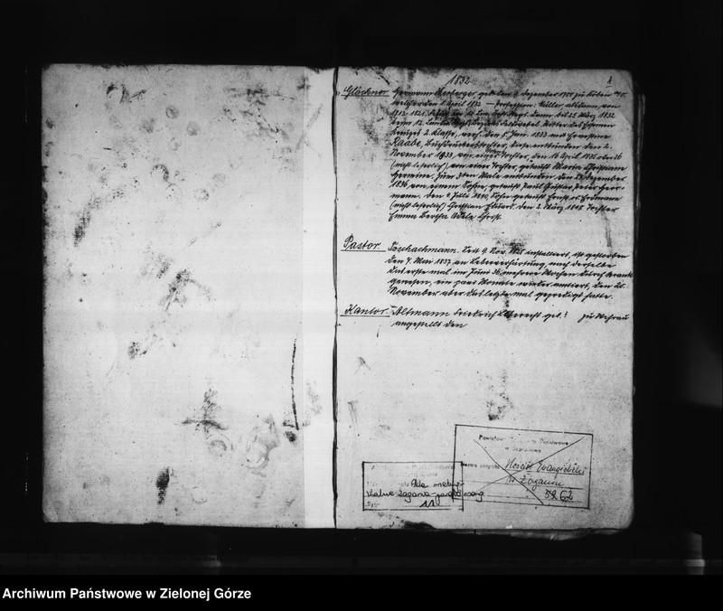"""Obraz z jednostki """"Alph[abetisches] Regist[er] Tauf- Trau - und Beerdig[ungen] 1830 - 1861"""""""