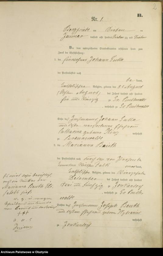 """Obraz z jednostki """"Heiraths-Haupt-Register Nr 1 - 14"""""""