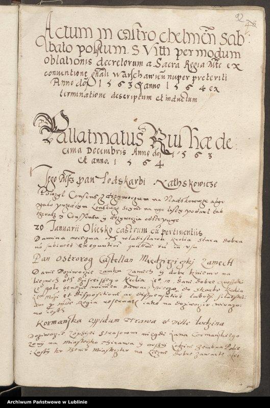 """image.from.collection.number """"Ornamentyka i liternictwo w księgach grodzkich chełmskich"""""""