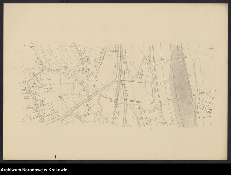 """Obraz 16 z jednostki """"[Kraków (część) Plan sytuacyjno-warstwicowy sprzed 1908 (kolej obwod.) po 1903 r.]"""""""