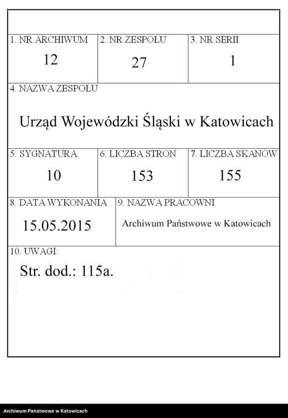 """Obraz 1 z jednostki """"[Zarządzenia, okólniki, polecenia służbowe Urzędu Wojewódzkiego Śląskiego nie numerowane]"""""""