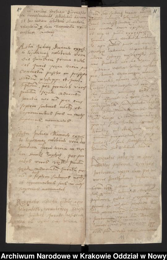 """Obraz 2 z kolekcji """"Fragment księgi wójtowsko - ławniczej miasta Starego Sącza z lat 1480-1563"""""""