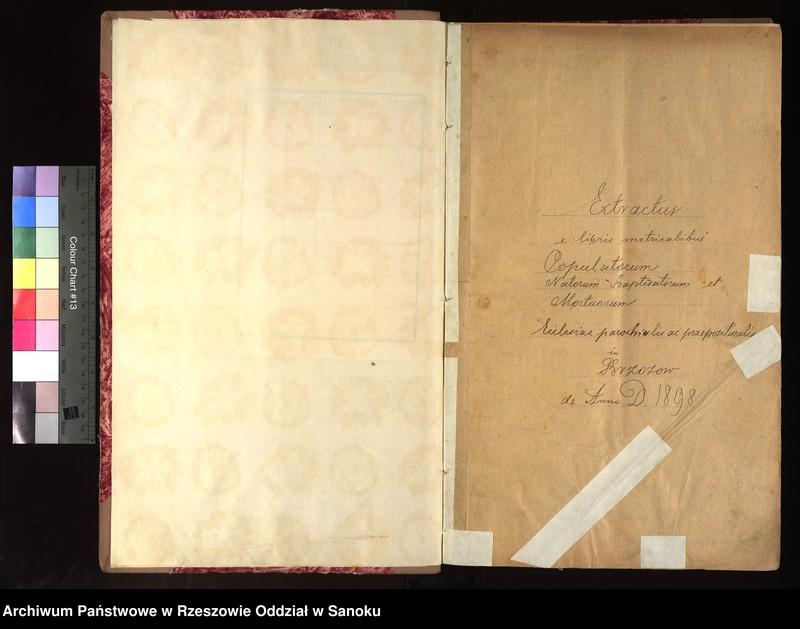 """Obraz z jednostki """"Księga urodzeń, małżeństw i zgonów dla miejscowości Brzozów"""""""
