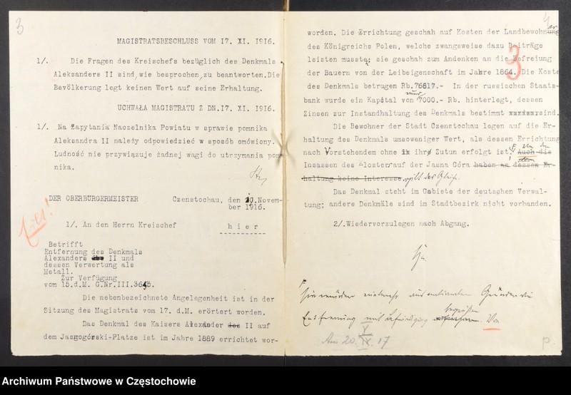 """Obraz 11 z kolekcji """"Usunięcie pomnika Aleksandra II Romanowa w Częstochowie"""""""