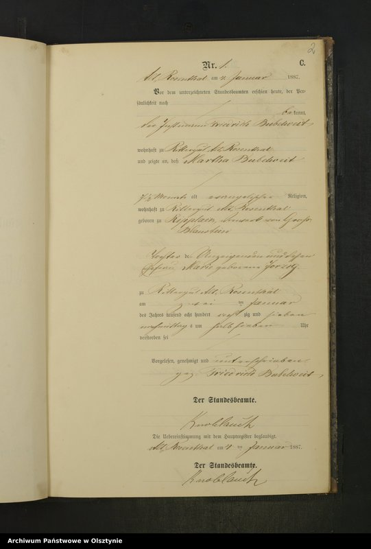"Obraz z jednostki ""Sterbe-Neben-Register Nr 1 - 36"""