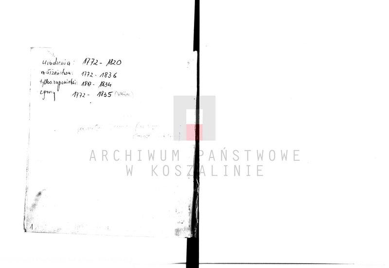"""Obraz 8 z kolekcji """"Najstarsze księgi metrykalne w zasobie AP w Koszalinie"""""""