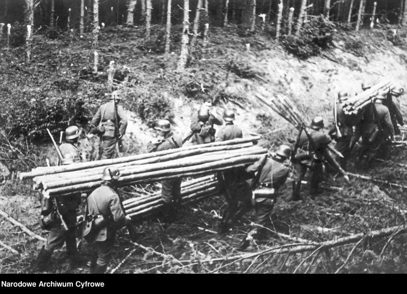 """Obraz 2 z jednostki """"Oddział niemieckich saperów w lesie"""""""