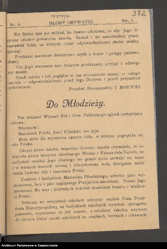 """Obraz 3 z kolekcji """"85 rocznica śmierci Józefa Piłsudskiego"""""""