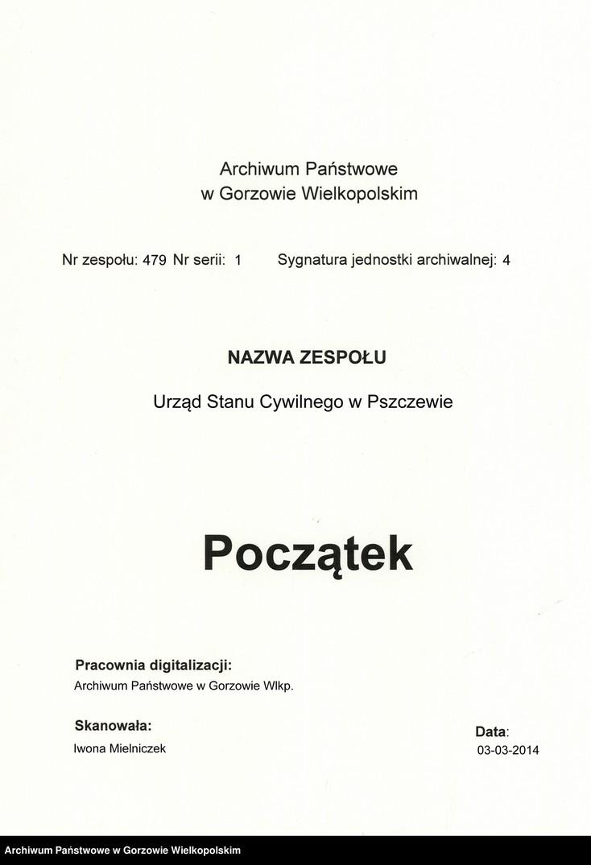 """Obraz z zespołu """"Urząd Stanu Cywilnego w Pszczewie"""""""