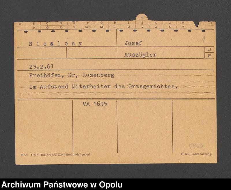 """Obraz 3 z jednostki """"[Nieslony Josef, ur. 23.2.1861, zam. Freihöfen]"""""""
