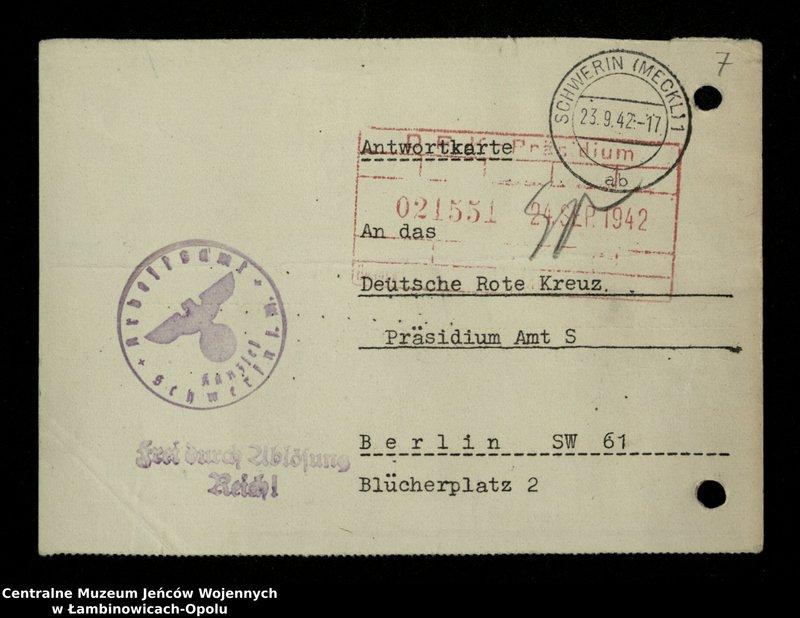 """Obraz 8 z jednostki """"Poszukiwania jeńców polskich zwolnionych z niewoli niemieckiej jako robotnicy cywilni, lit. Ada-Bod"""""""