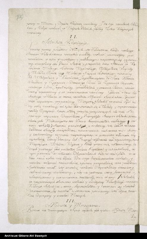 """Obraz 3 z kolekcji """"Oryginał Konstytucji 3 maja"""""""