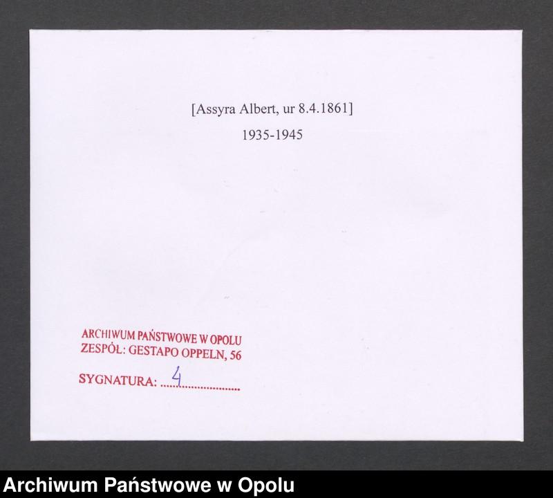 "Obraz 2 z jednostki ""[Assyra Albert, ur 8.4.1861]"""